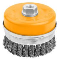 Perie cupa din sarma rasucita cu piulita (conditii dificile) 75 mm (Industrial)