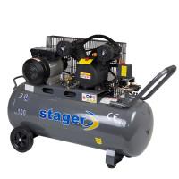 Compresor aer Stager HM-V-0.25/100 100L 8bar