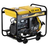 Generator curent electric Kipor KDE 6500 E,  5.5 kVA, (Diesel), AVR, 2 prize mono + 1 trifazata 32A