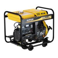 Generator curent electric Kipor KDE 6500 E3, 6 kVA, (Diesel), AVR, 2 prize mono + 1 trifazata