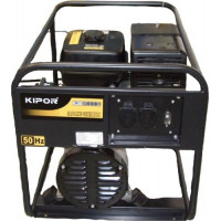 Generator curent electric Kipor KGE 6000 C, 5.5 kVA, (Benzina), AVR, 2 prize monofazate 16A