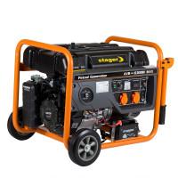 Generator curent electric pe benzina Stager GG 7300EW 6.3 kW, AVR (Benzina), , 2 prize monofazate